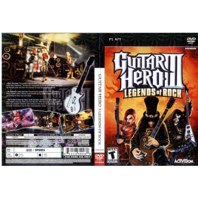 PS2 Games CD Collection Guitar Hero 3 Legend Of Rock