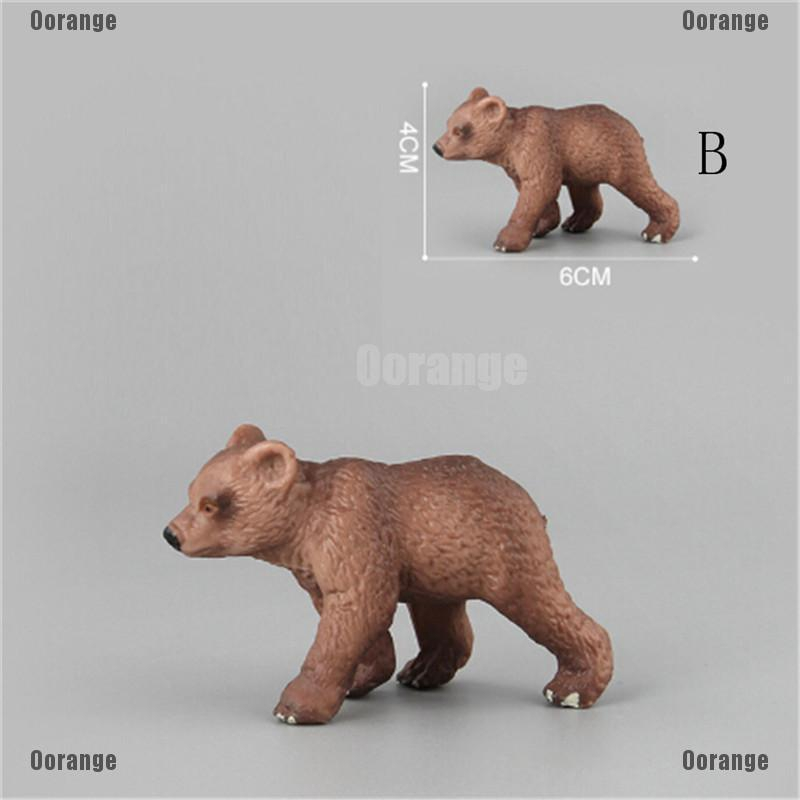 PVC Animals Polar Bear Static Model Action Figures Kids Educational Toys GiftL/_D