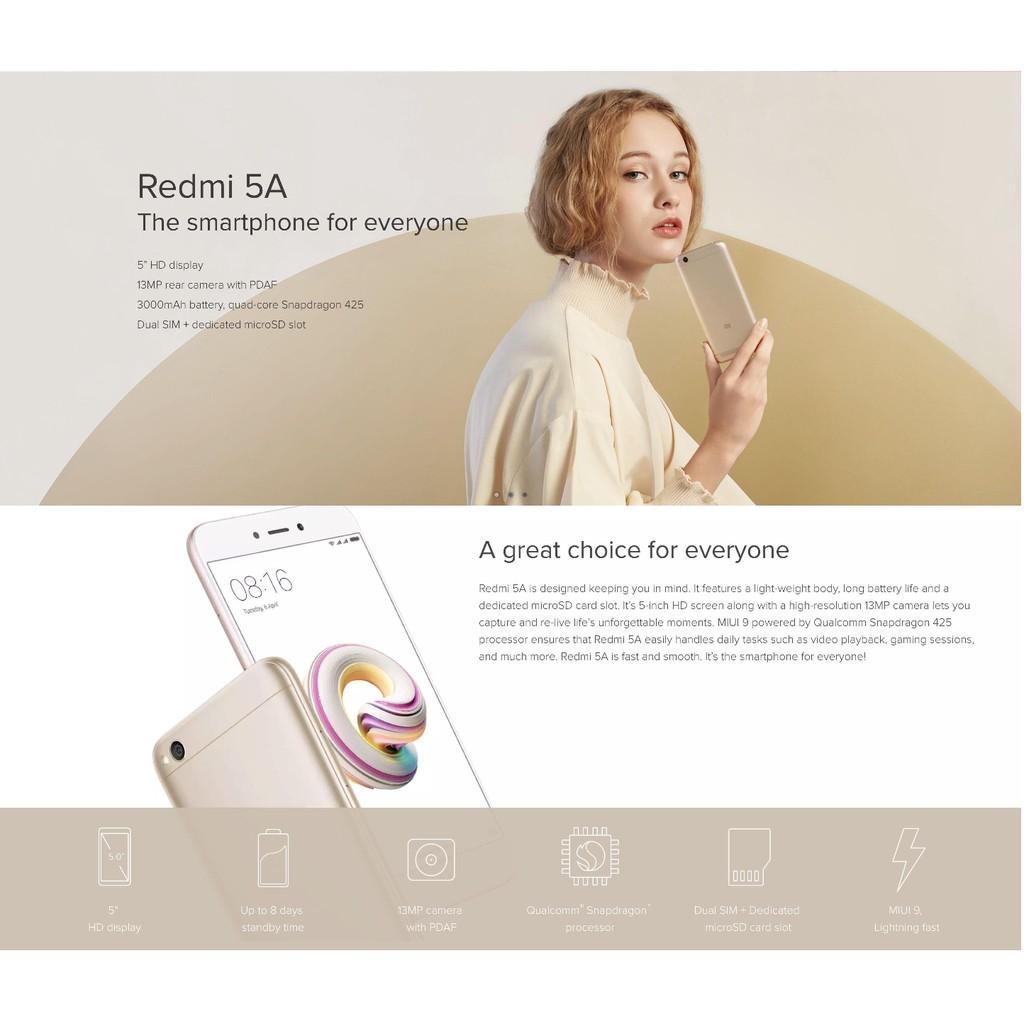 Xiaomi Redmi 5A 2GB RAM 16GB ROM - Global Rom Import Set