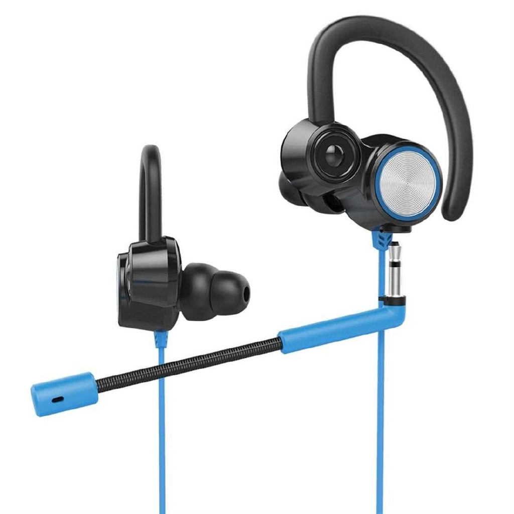 V6 Gaming Headset Vibration Games Headphone with Mic Stereo Bass PC Earphones (Blue)