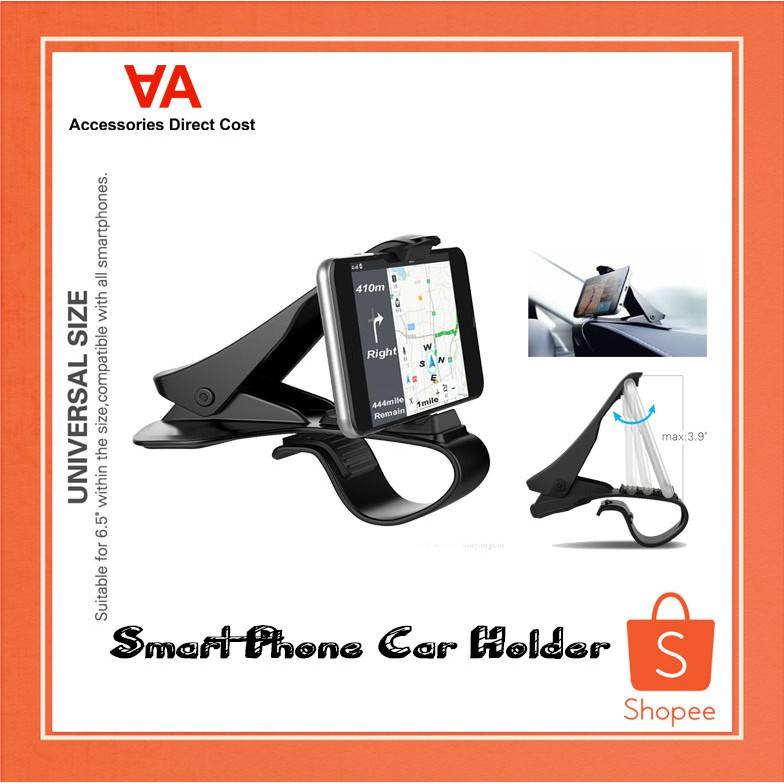 Car Phone Holder Dashboard Mount Universal Cellphone Clip Bracket