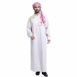 febf2deacea3 Fashion Muslim Jubba Thobe Men Robes Long Sleeve Embroidery Pattern Arab  Dubai Indian Islamic Kaftan Plus Size VKAB100   Shopee Malaysia