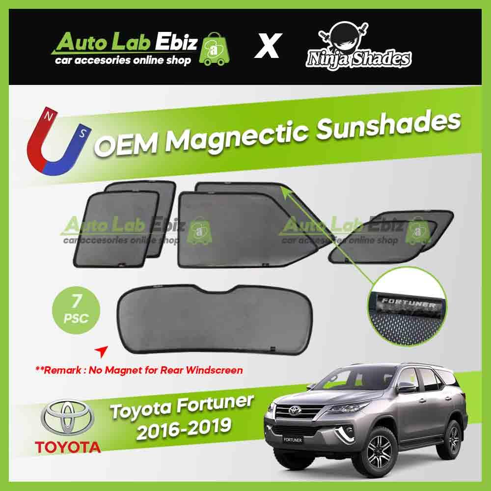 Toyota Fortuner 2016-2019 Ninja Shades OEM Magnetic Sunshade (7pcs)