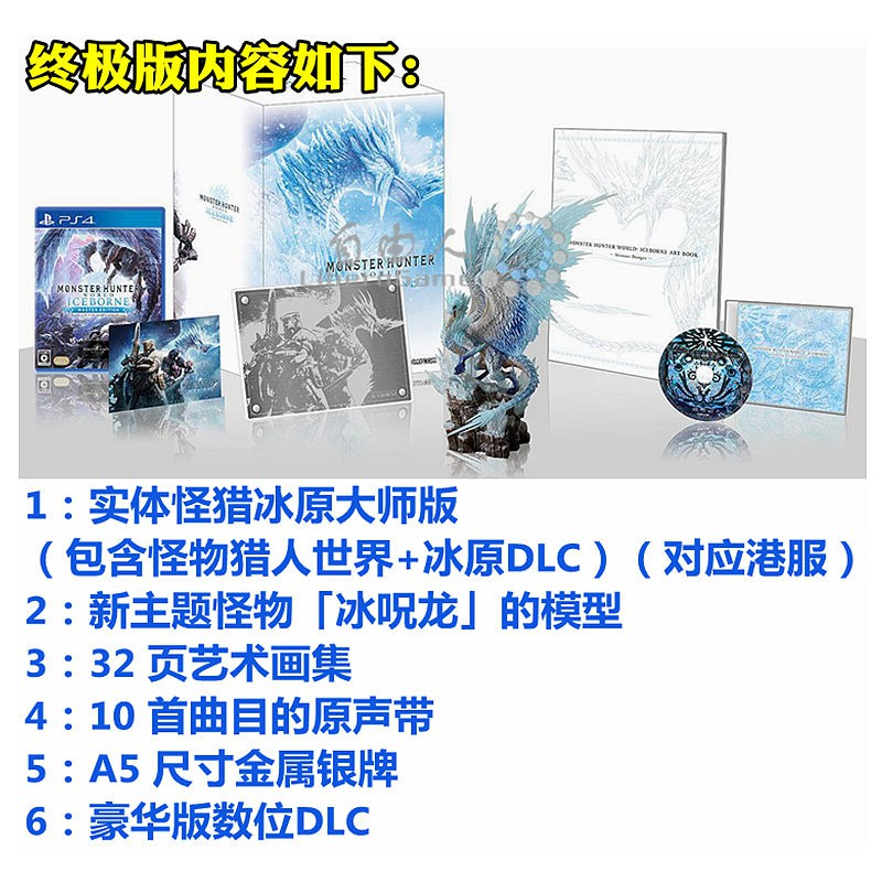 Chinese reservation iron box PS4 game monster hunter world 怪猎冰原 ICEBORNE  full ve