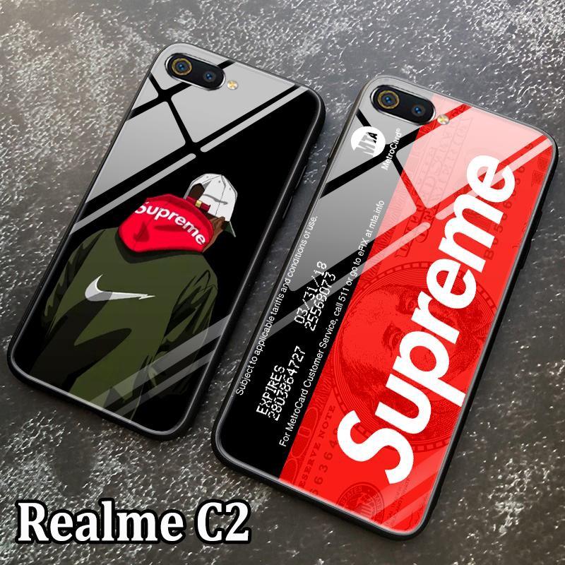 OPPO Realme C2 Tempered Glass Supreme Case Full Coverage Cartoon