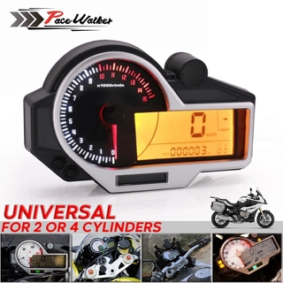 12000RPM LCD 95mm Odometer Speedometer Tachometer Gauge for