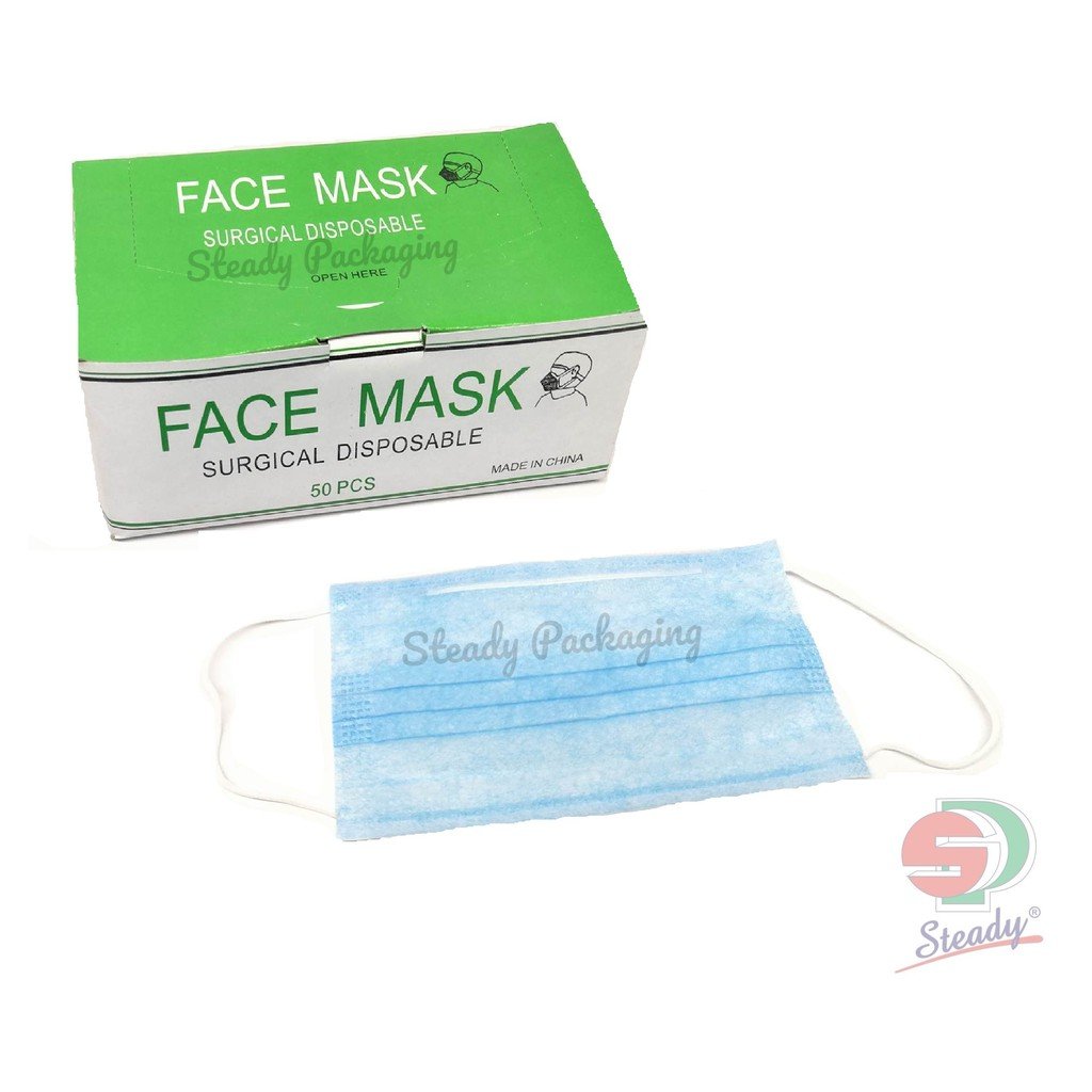 Disposable Mouth Facemask Surgical Filter 50pcs - Mask Face