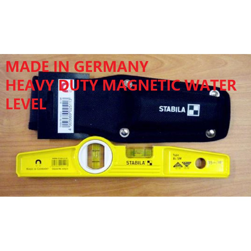 81SM STABILA GERMANY SPIRIT MAGNETIC TORPEDO WATER LEVEL BALANCE MEASUREMENT MEASURNG MEASURER STABILA ASAKI SENSUI BEST
