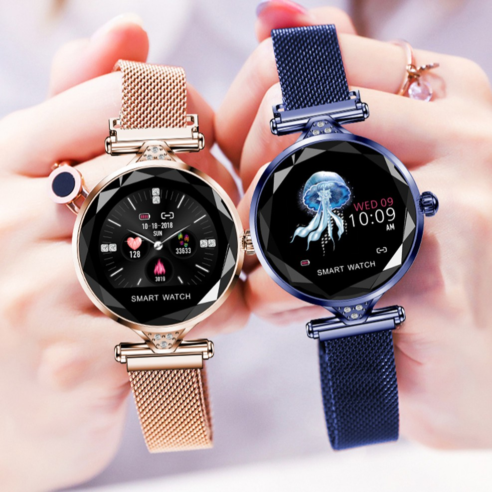 H1 smart watch women heart rate blood pressure fitness pedometer female  physiological cycle waterproof smartwatch reloj