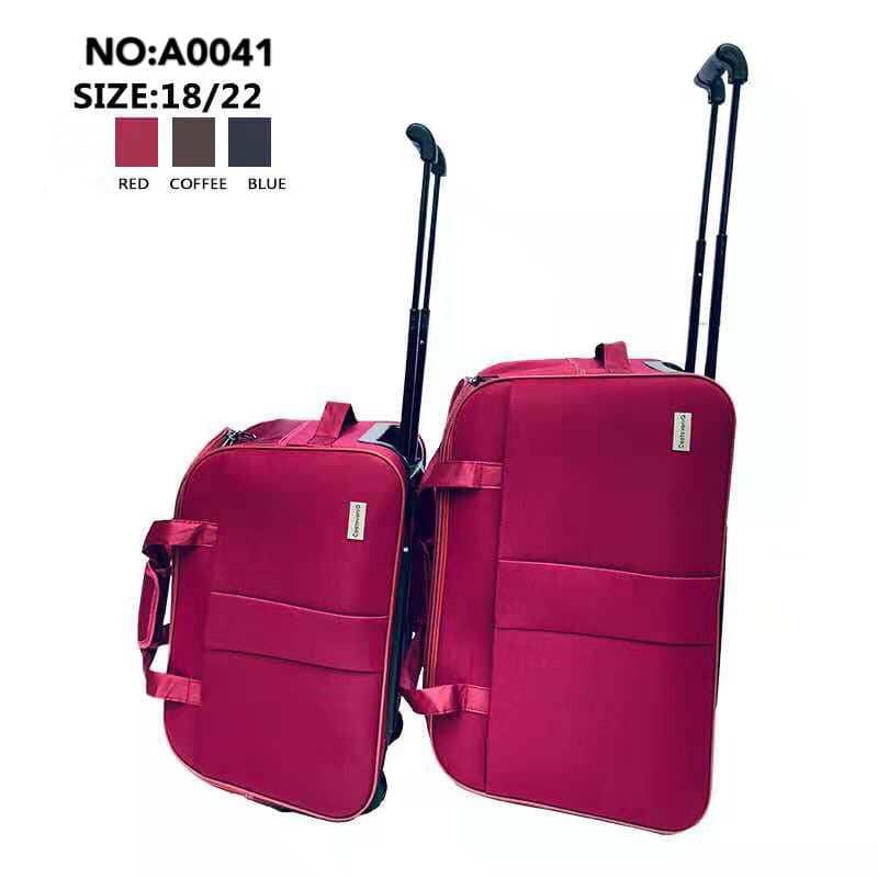 ad3f33f14614 2in1SET Travel Luggage Trolley Duffel Duffle Bag 18inch+22inch