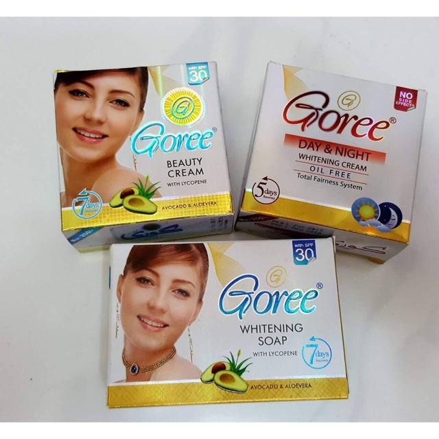 GOREE SET C (Beauty Cream+Day&Night Cream+Whitening Soap)