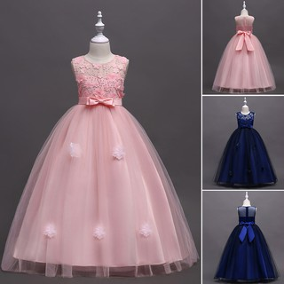 f205d658f7295 Flower Girls Princess Dress Kids Party Wedding Pageant Formal Lace ...