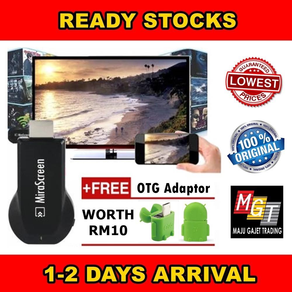【FREE POST】 Ori MiraScreen TV Screen Mirroring DLNA Airplay Miracast Chromecast | Shopee Malaysia