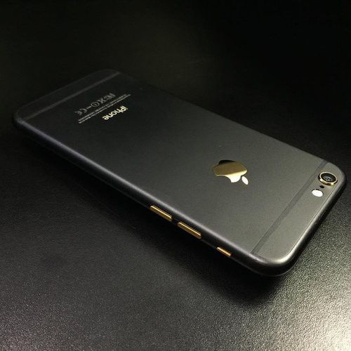 best service 33a44 1a9f4 apple iphone 6/6s/6 plus black gold matte housing limited edition