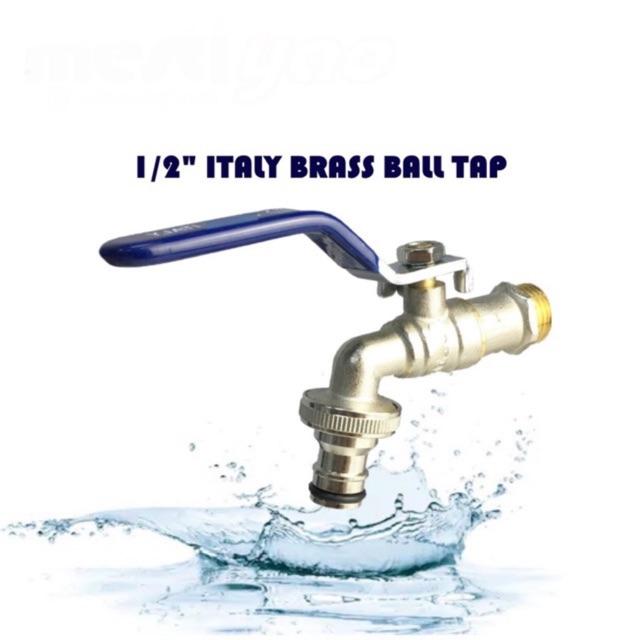 """½"""" BRASS BIBCOCK  BALL VALVE BIB TAP WALL MOUNTED WASHING MACHINE BALL VALVE TAP"""