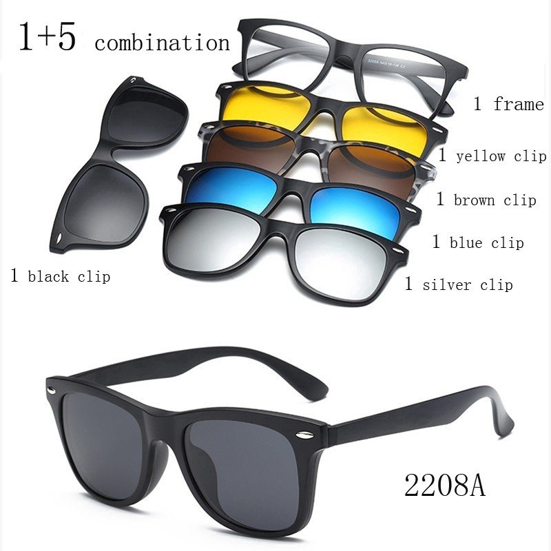 e0d091118c9 magnet Clip On Polarised Sunglasses night vision Magnetic Clip glasses frame