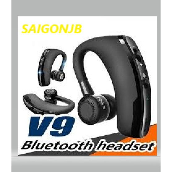 V9 Version Business Ear Hanging Wireless CSR Bluetooth Earphone Stereo Voice ready stock