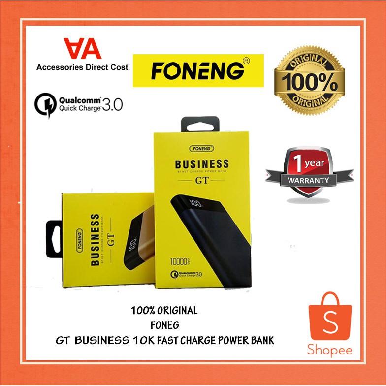 100% ORIGINAL  FONEG GT  BUSINESS 10K FAST CHARGE POWER BANK