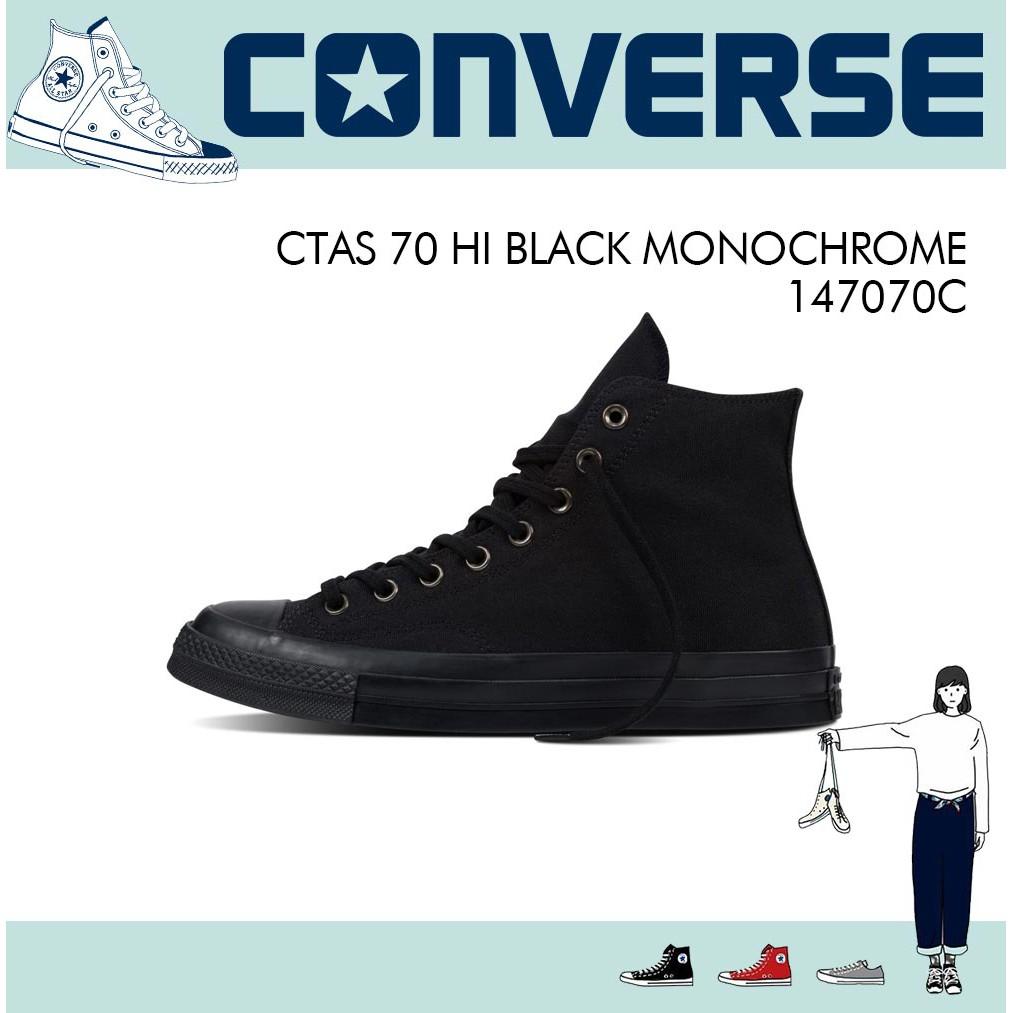 260db0dec421 CTAS 70 HI BLACK MONOCHROME - 147070C