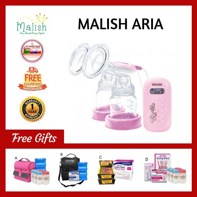 MALISH ARIA: Mini Double Electric Breast Pump (24mm)