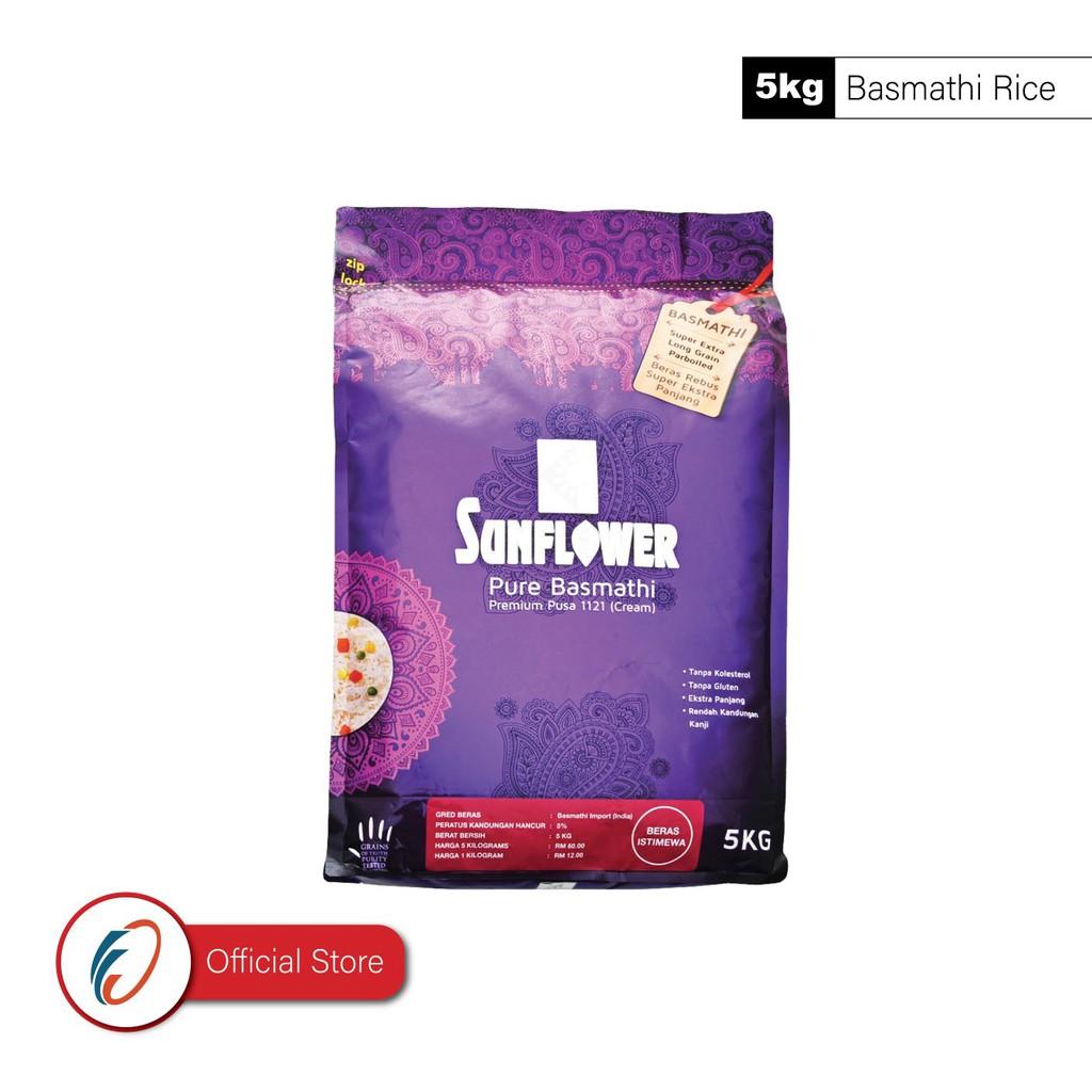 Sunflower Pure Basmathi Premium Pusa 1121 - Cream (parboiled) (5kg)