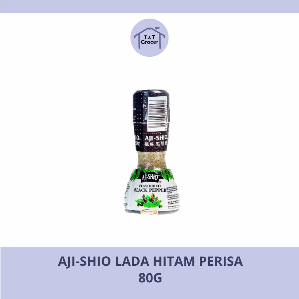 AJI-SHIO 80g (Lada Hitam Perisa/ Lada Putih Perisa)
