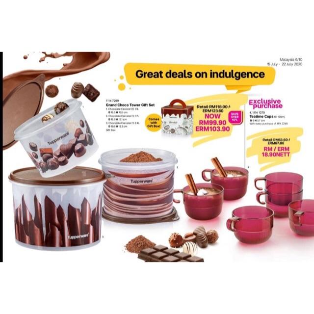 Tupperware Grand Choco Tower Gift Set