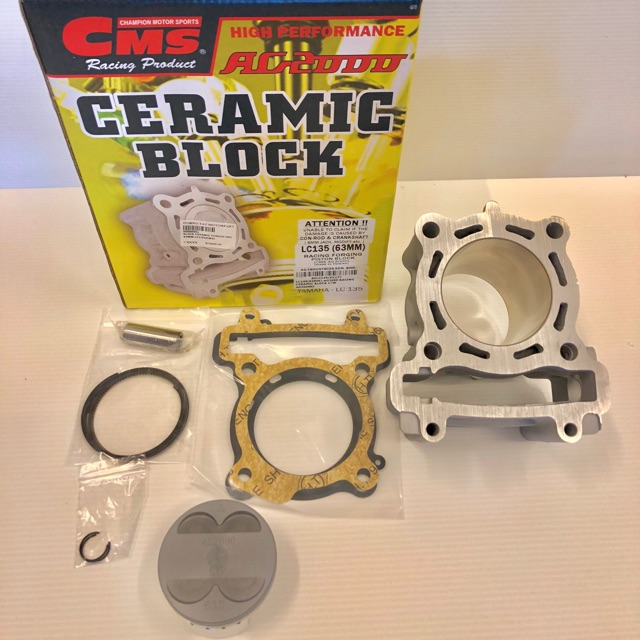Block Ceramic With Piston Forged 63MM Jenama CMS For Yamaha Y15ZR &