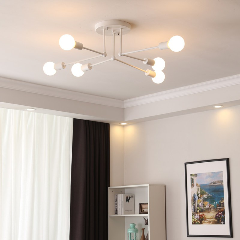 Postmodern Ceiling Light Simple Art Small Living Room Dining Room Ceiling Lamp Individual Study Wrought Iron Lamps Shopee Malaysia