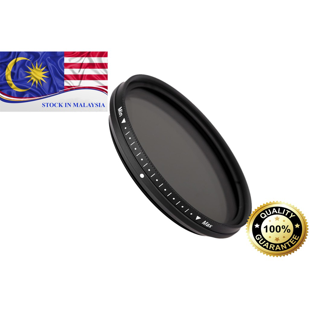 FOTGA Slim Fader Variable ND Filter Adjustable ND2 to ND400 49mm (Ready Stock In Malaysia)