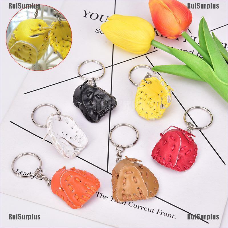 1PC Tennis Pendant Plastic Mini Tennis Ball Key Chain Small Ornaments keychains