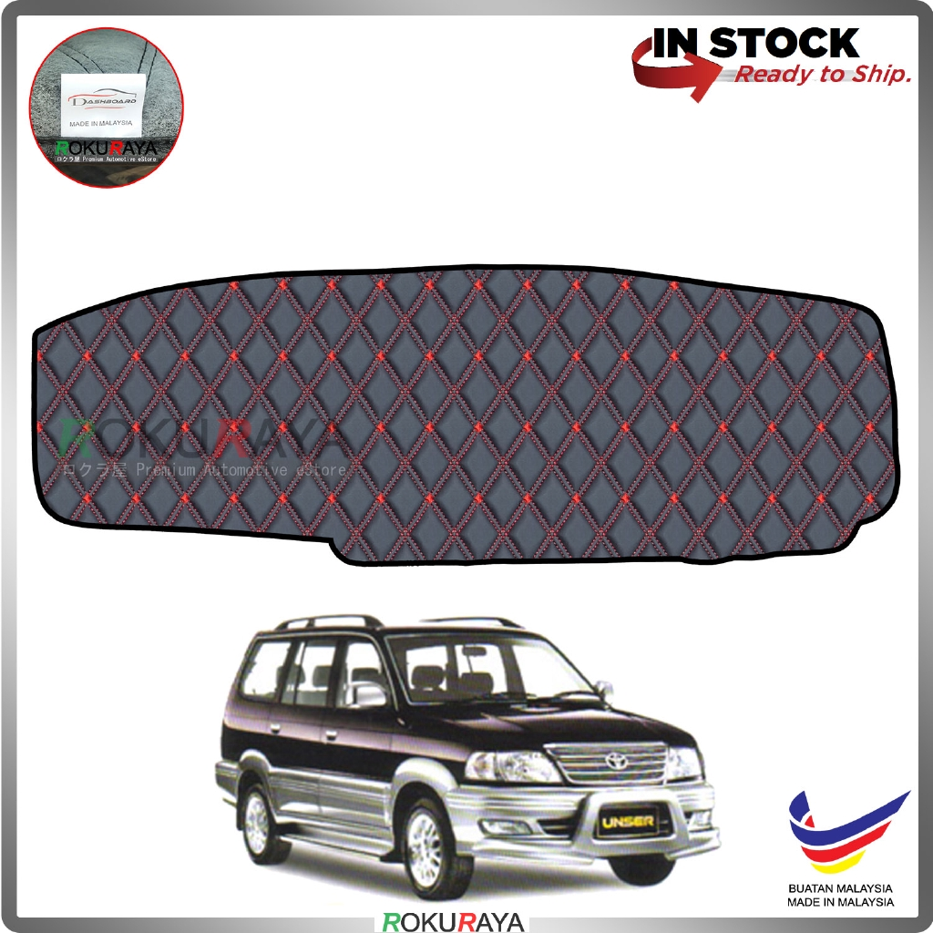 Toyota Unser 1997-2004 RR Malaysia Custom Fit Dashboard Cover (RED LINE)