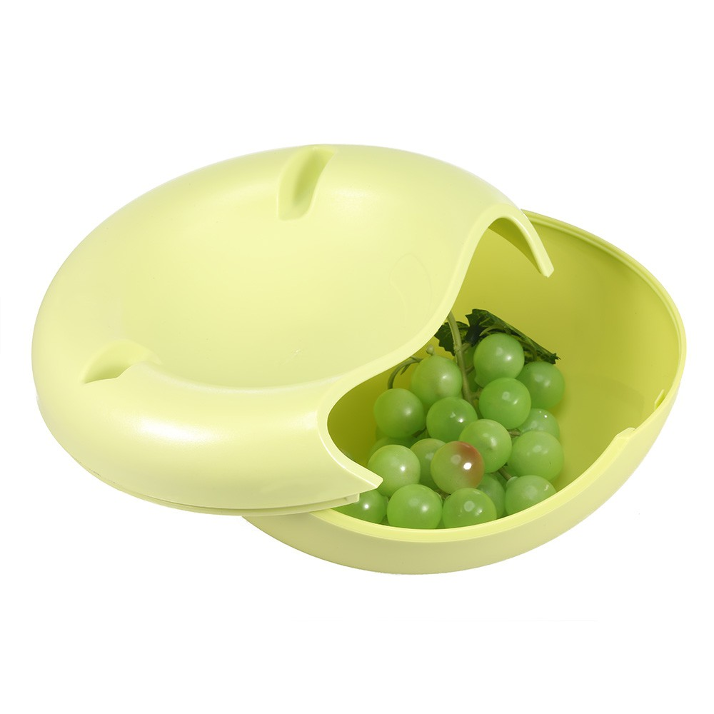 Double-deck Snack Food Storage Box Melon Seeds Container Cell Phone Holder