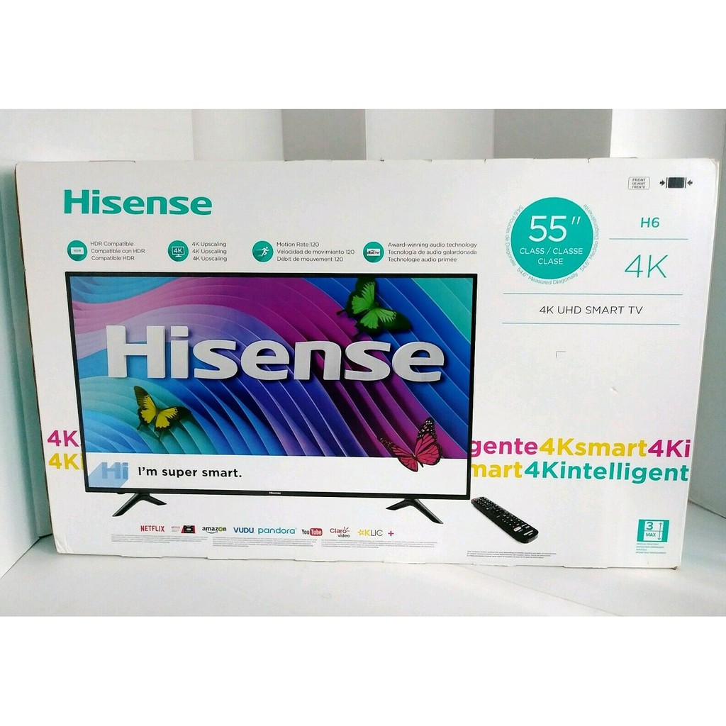 "Hisense 55"" 4K UHD HDR Smart LED TV ULTRA HD Brand New"