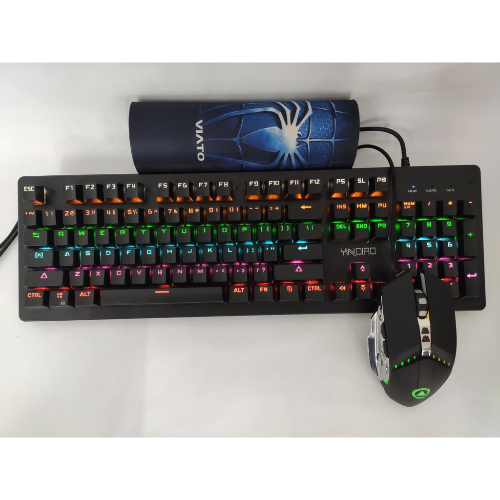 YINDIAO MECHANICAL RGB GAMING KEYBOARD & G3 PRO GAMING MOUSE - BULK PACK