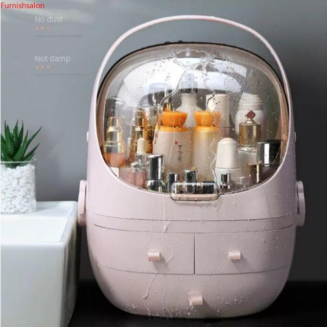 [ READY STOCK ]  Portable Waterproof Makeup Cosmetic Anti Dust Cover Organizer Drawer Beauty Jewelry Storage Box Murah