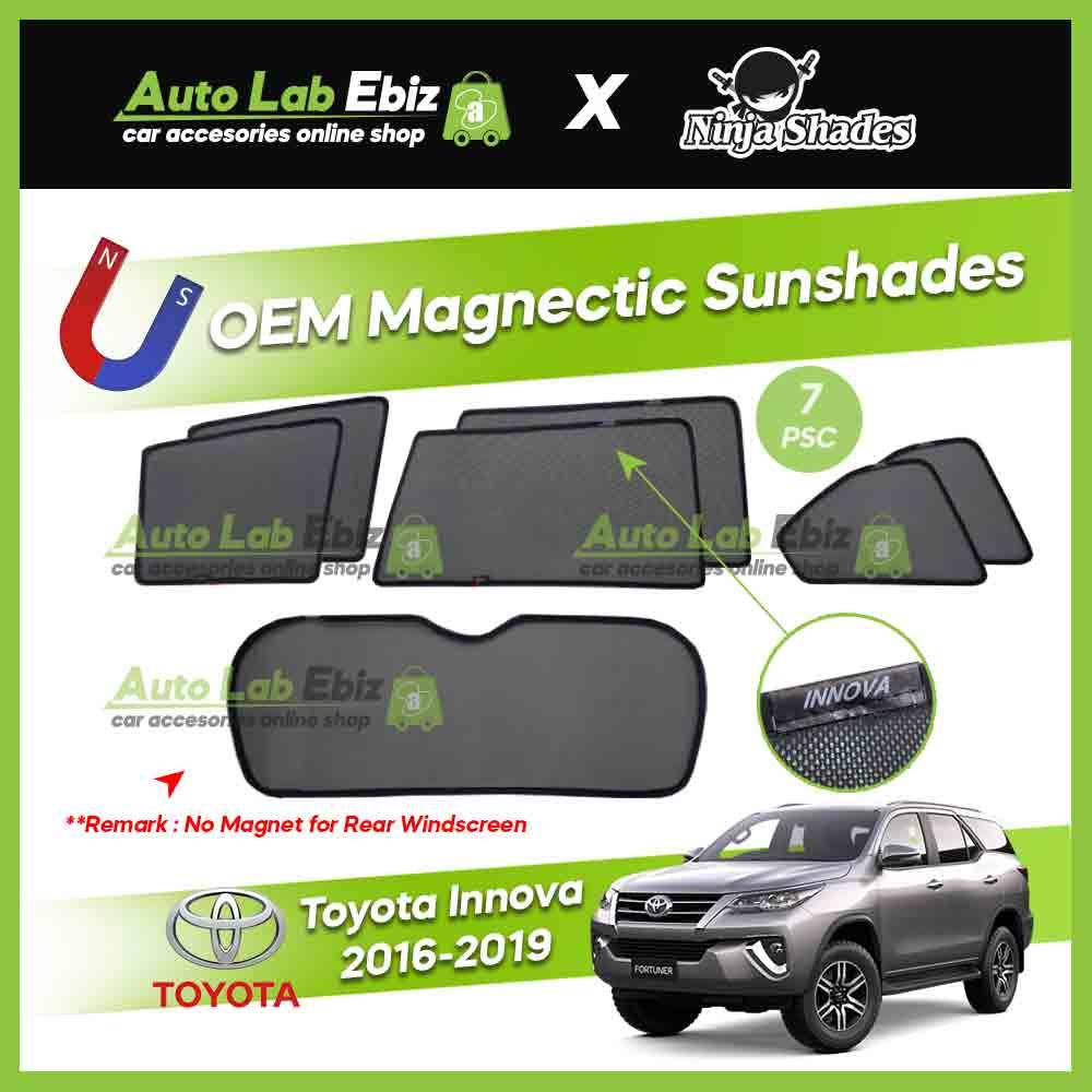Toyota Innova 2016-2019 Ninja Shades OEM Magnetic Sunshade (7pcs)