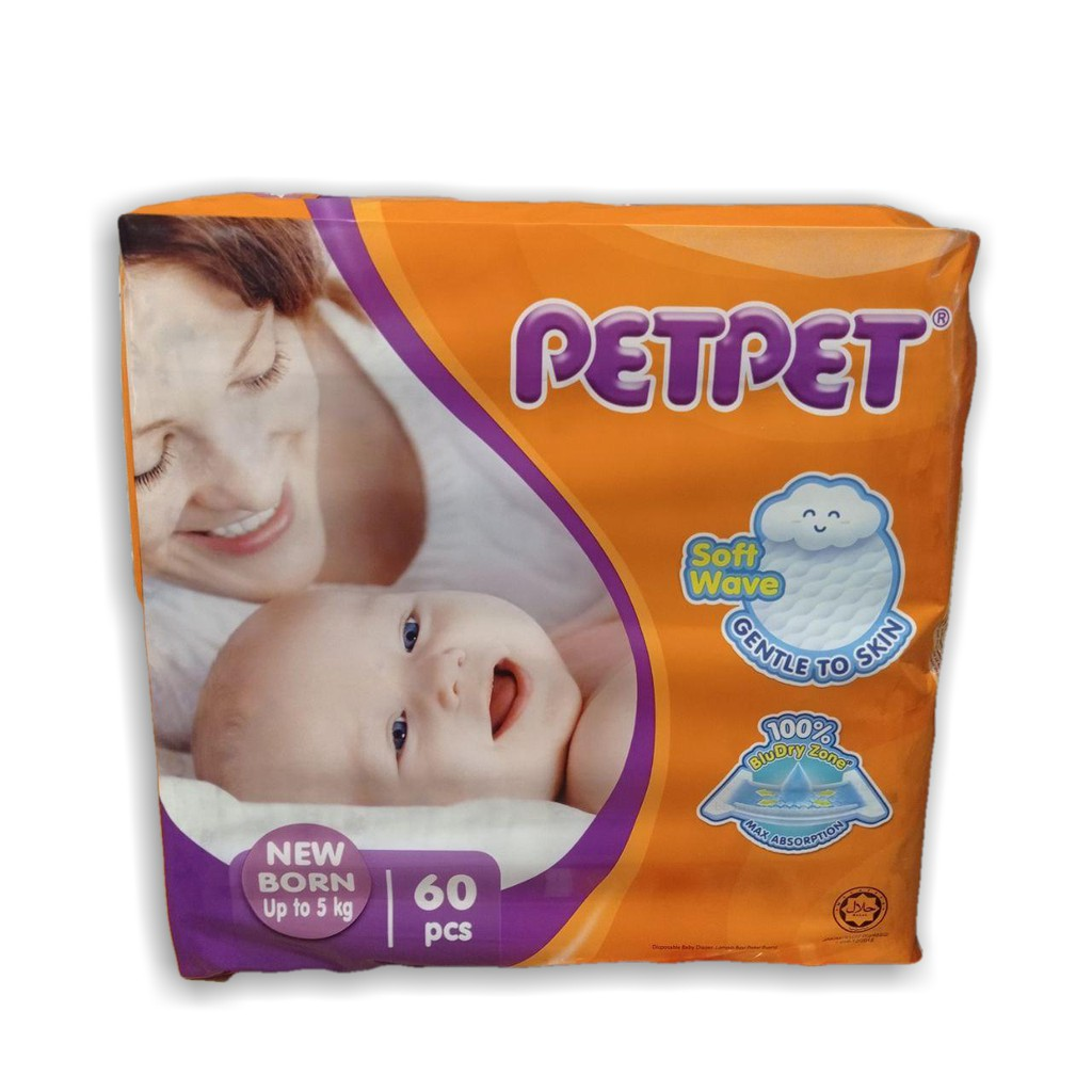 PETPET Tape Diapers Jumbo New Pek NB
