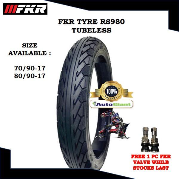 FKR TAYAR RS980 TUBELESS (100% ORIGINAL) 70/90-17, 80/90-17