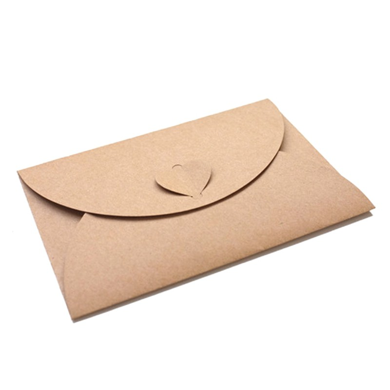 50pcs Lot Handmade Heart Kraft Envelope Vintage Envelopes Retro
