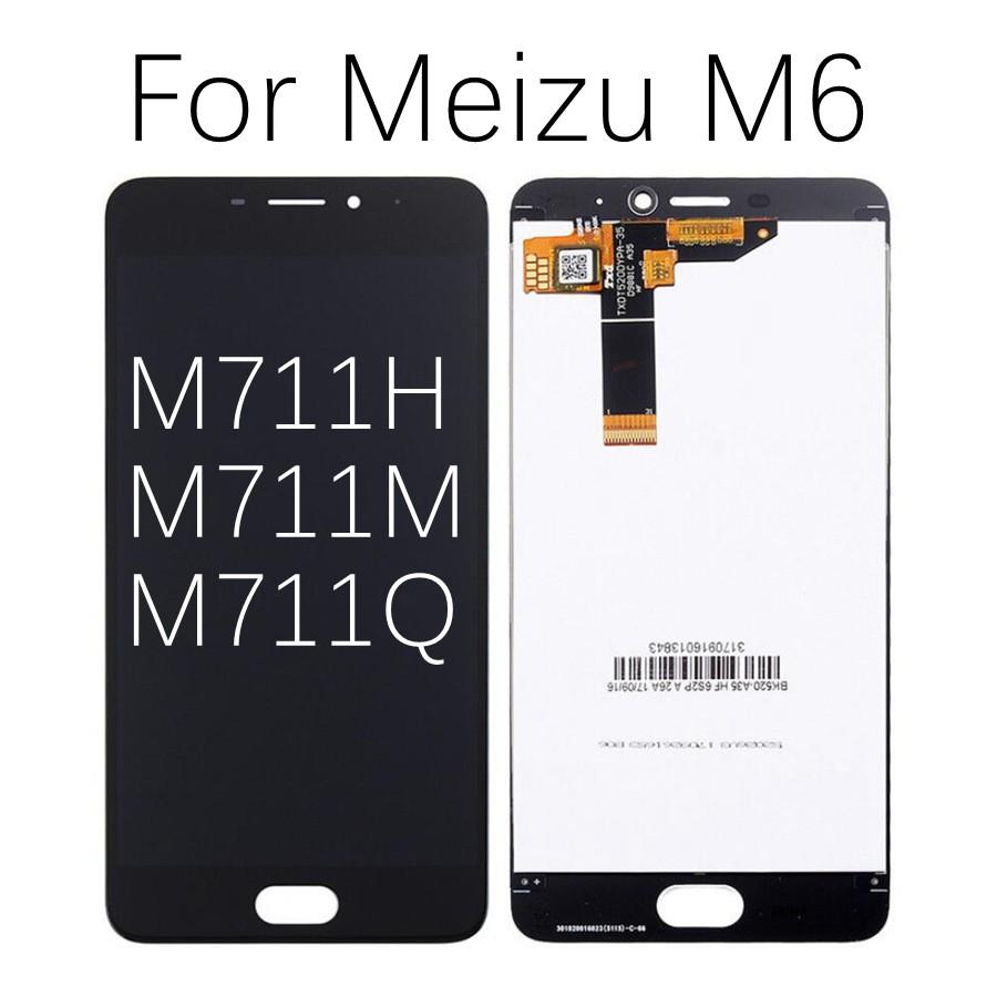 Original Meizu M6s LCD Display Touch Screen Digitizer M711H M711M M711Q M6  LCD M712H M712Q For M6T LCD M811Q Screen