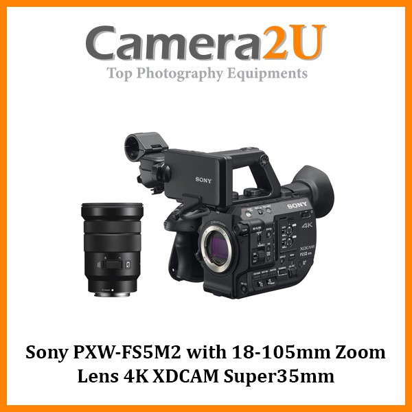 Sony PXW-FS5M2 with 18-105mm Zoom Lens 4K XDCAM Super35mm Compact Camcorder (MSIA)
