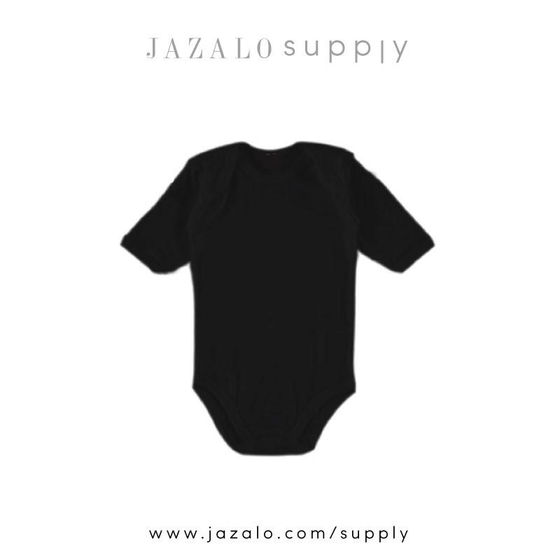 f3303660b Plain Black Baby Romper - Baju Bayi Kosong Hitam