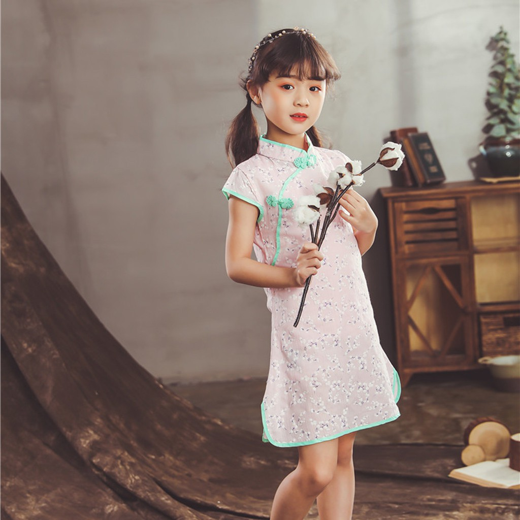 2ba96bc7bf3ee 🌷raiinbow🌷Toddler Baby Girls Kids Flowers Cheongsam Floral Party Princess  Dresses