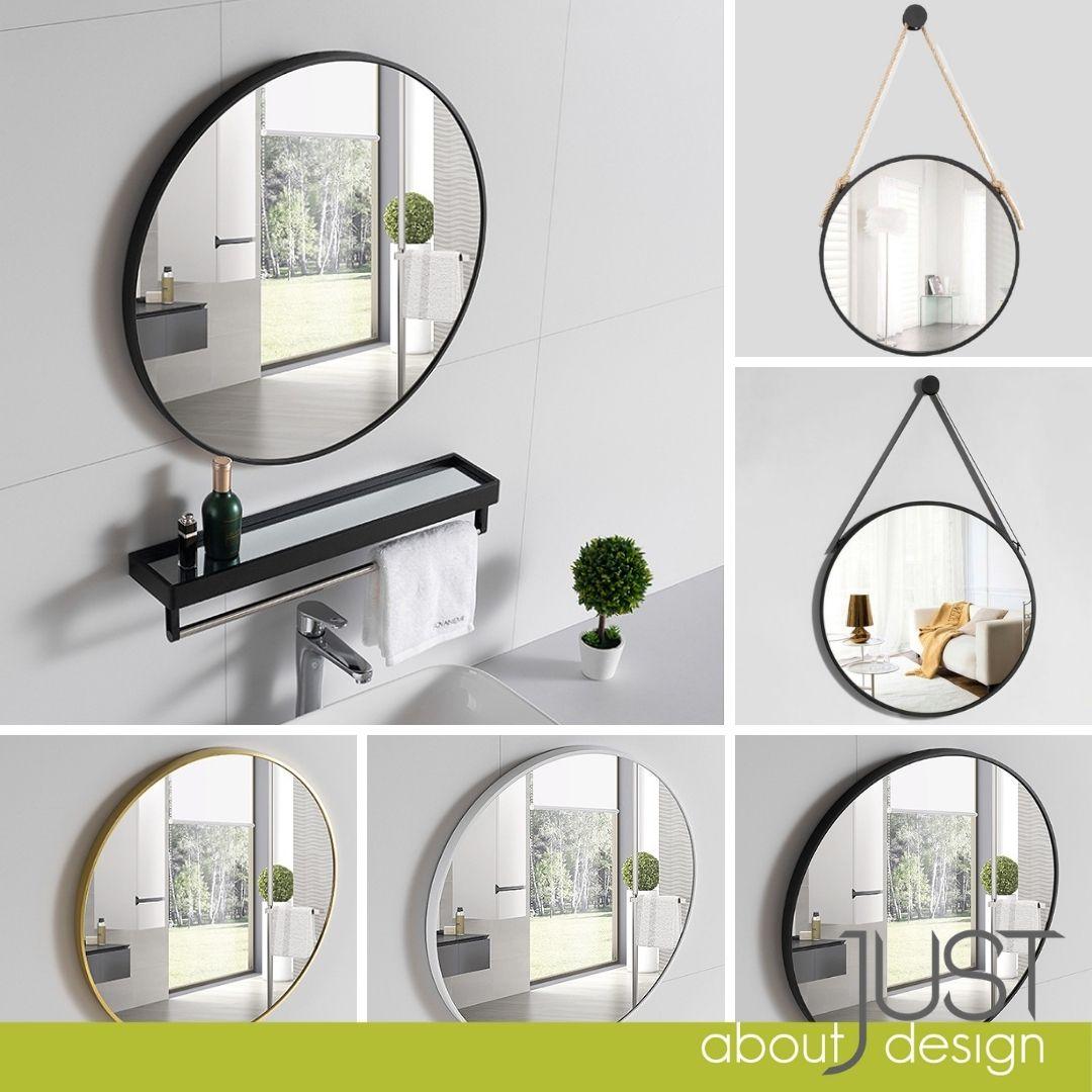 Buy Ready Stock Nordic Simple Bathroom Mirror Fashion Toilet Iron Round Mirror Wall Mount Seetracker Malaysia