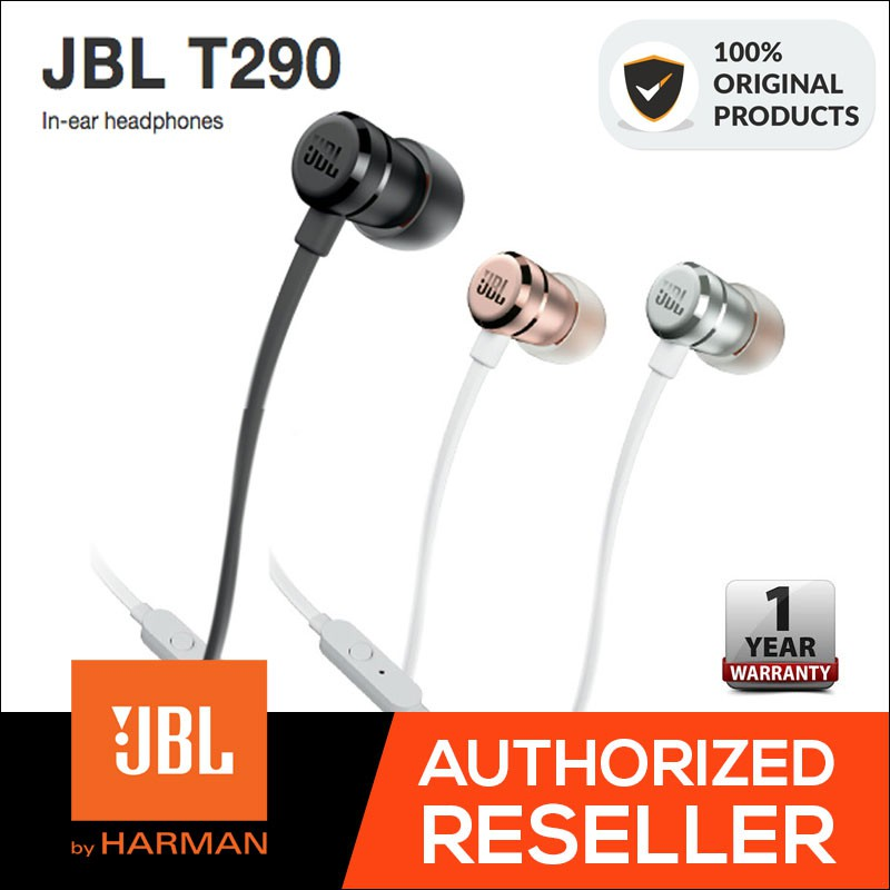 7604f3bdbf8 ProductImage. ProductImage. JBL T290 In-Ear Wired Stereo Headphones -  Original Authentic ...