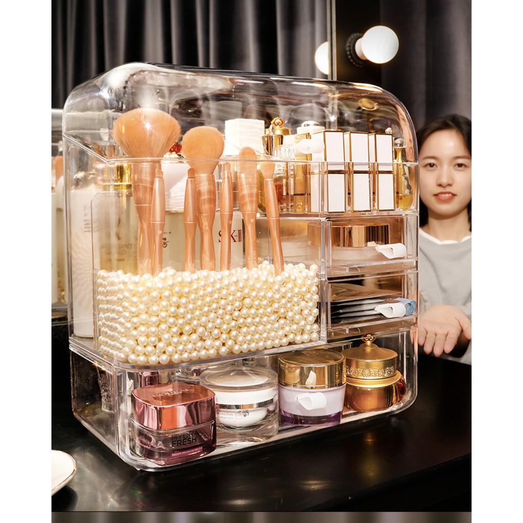 JK HOME Dustproof Transparent Drawer Cosmetic Storage Makeup Organizer Cosmestic Box 化妝品收納盒