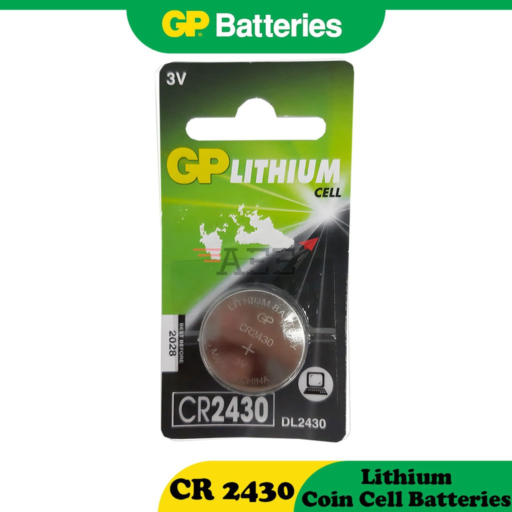 CR2430 GP Lithium Battery Coin Cell (Original) (1pc / 5pcs)