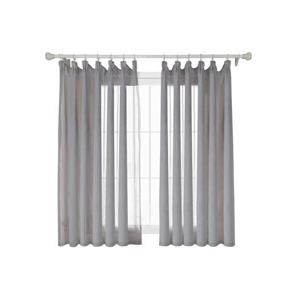 Napearl 100x130 ผ้าม่านหน้าต่าง สีเทา transparent curtain