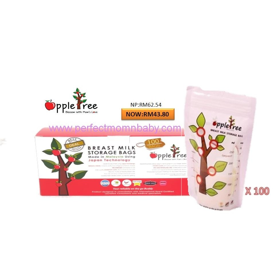 AppleTree Milk Storage Bag 100pcs/ box (8oz)